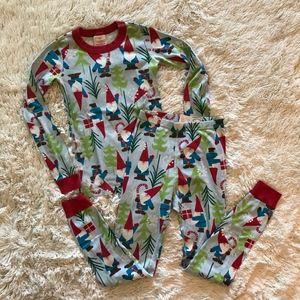 Hanna Andersson Santa Christmas two piece pajamas